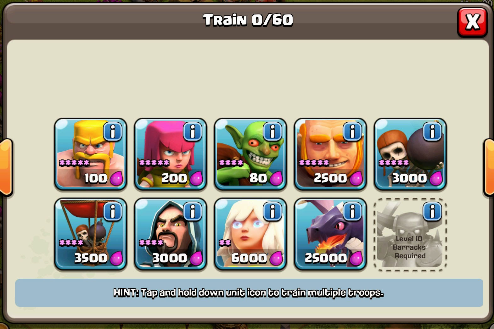 Barracks Units and Tips [Clash of Clans]