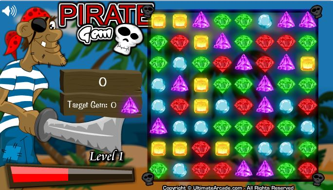 Pirate Gem – Play Free – FLASH Game