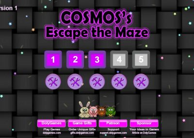 Cosmos's Maze Puzzle 3 game screenshot. DolyGames