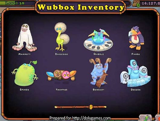 Wubbox Inventory My Singing Monsters