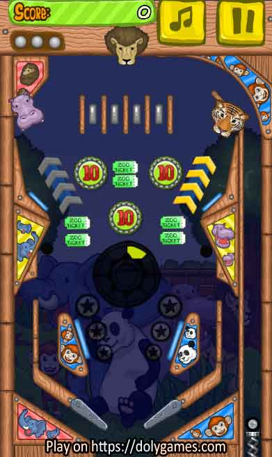 Zoo Pinball PLAY FREE online DolyGames 2