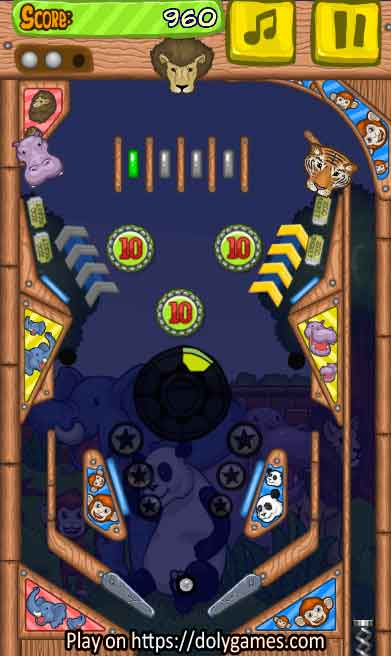 Zoo Pinball PLAY FREE online DolyGames 4