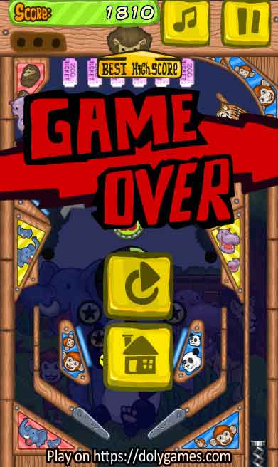 Zoo Pinball PLAY FREE online DolyGames 6